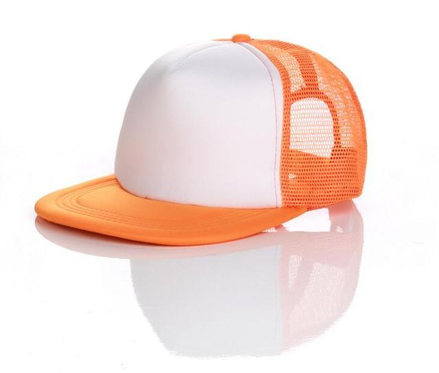 10pcs Children Hip Pop Mesh Snapback Hats for Spring Summer Kids Foam Flat  Bill Snap Back Caps Boys Girls DIY Net Cap Wholesale f34f3528af6