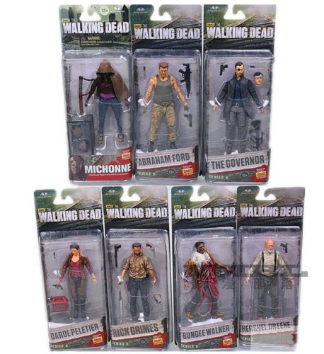 """McFarlane Toys The Walking Dead SERIES 6 TV inch"""" COMPLETE SET OF 7 Action Figures"""""""