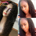 7A Rizado Afro Llena Del Cordón Pelucas de Pelo Humano Para Las Mujeres Negras virgen Sin Cola Peluca Llena Del Cordón Rizado Pelucas Delanteras Del Cordón Con El Pelo Del Bebé