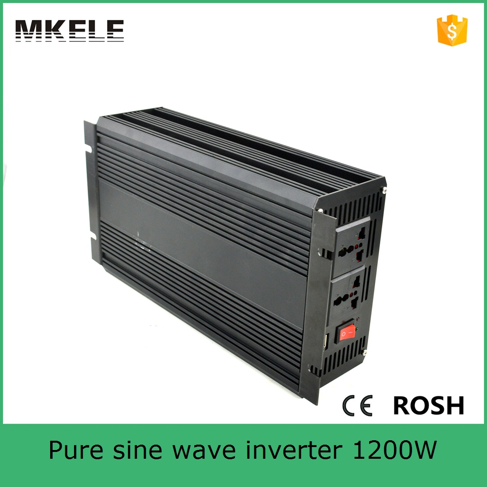 цена на MKP1200-122B single output motor inverter 1200va inverter 12vdc to 230vac inverter pure sine ac inverter from china