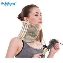 Youhekang Inflatable Cervical Traction Device Home Neck Support Medical Neck Breathable Brace Adjustable Therapy Tractor Braces недорого