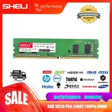 SHELI 4GB 1Rx16 PC4-2400T DDR4 2400Mhz 288Pin Unbuffered DIMM Desktop Memory