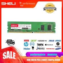 SHELI 4 GB 1Rx16 PC4-2400T 288Pin DDR4 2400 Mhz DIMM Sem Buffer de Memória de Desktop