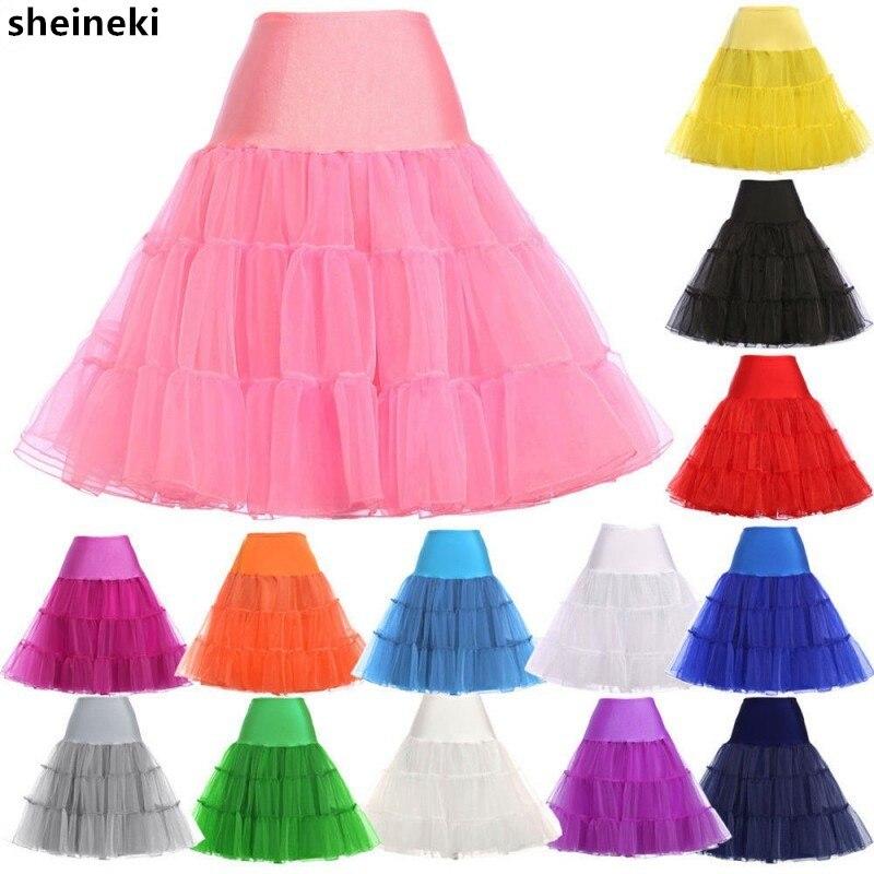 Damen Brautkleid Tutu Petticoat Retro Crinoline Tüll Hochzeit Lang Unterrock
