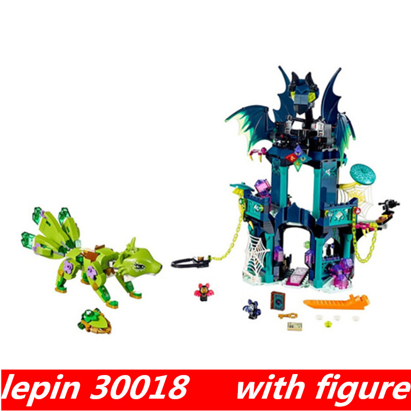 Lepin 30018 lepin Elves Series The Noctura's Tower & the Earth Fox Compatible legoing Elves legoing 41194 Building Blocks Toys lepin 30017 505pcs elves series the aira