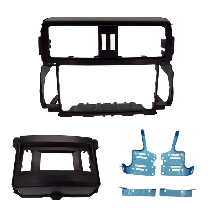 2 DIN Car Radio Fascia for TOYOTA Prado GXL 2010 stereo facia frame panel dash mount kit adapter free shipping car refitting dvd frame dash cd panel for buick excelle 2008 china facia install plate ca4034