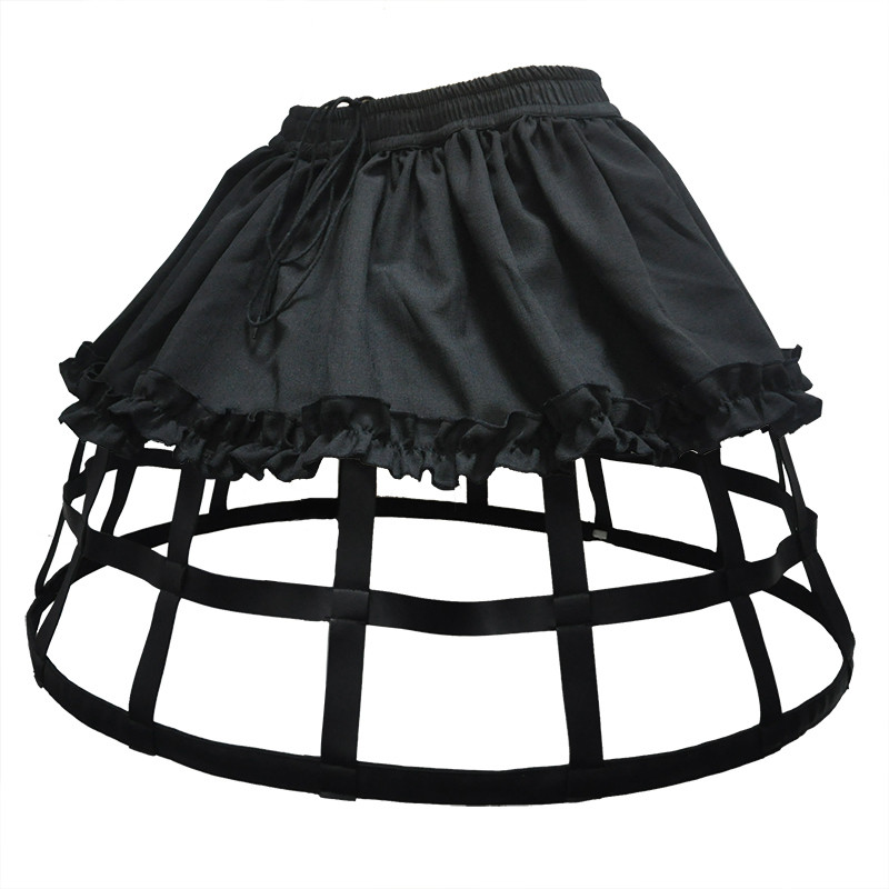 New Women Black MiNi Tulle Skirt Fashion Tutu A Line Vintage 4 Hoops Petticoat Skirts  Ball Gown Party