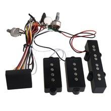 Yibuy Black Prewired 3-Band Equalizer EQ Preamp Pickup Potentiometer Setting for JB PB Bass Guitar Accessory yibuy black