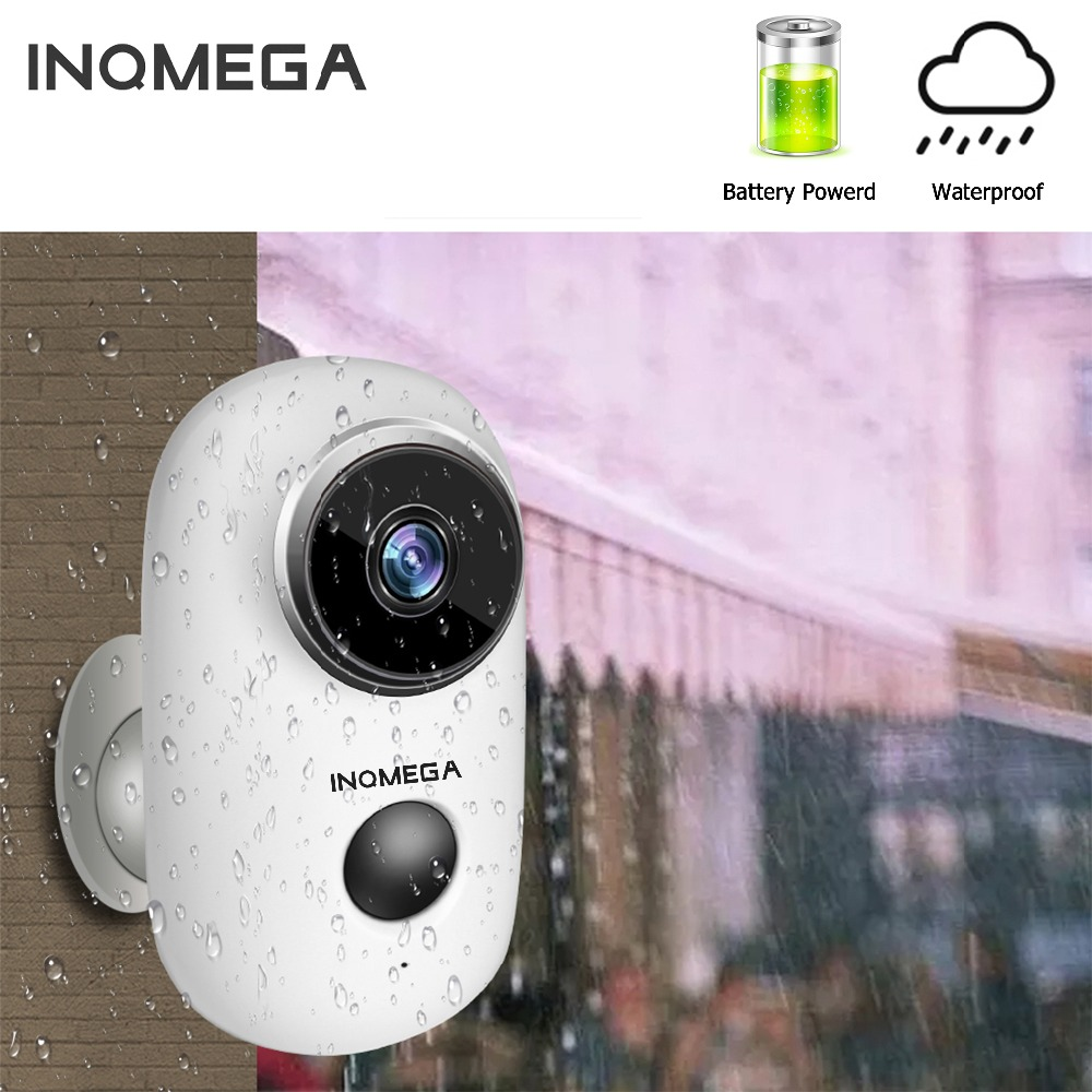 INQMEGA 100 Wire Free Rechargeable Battery IP Wifi Camera 1080P Outdoor Weatherproof IP65 CCTV Security Camera