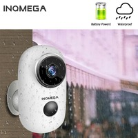 INQMEGA 100% Wire Free Rechargeable Battery IP Wifi Camera 1080P Outdoor Weatherproof IP65 CCTV Security Camera PIR/Audio/Alarm