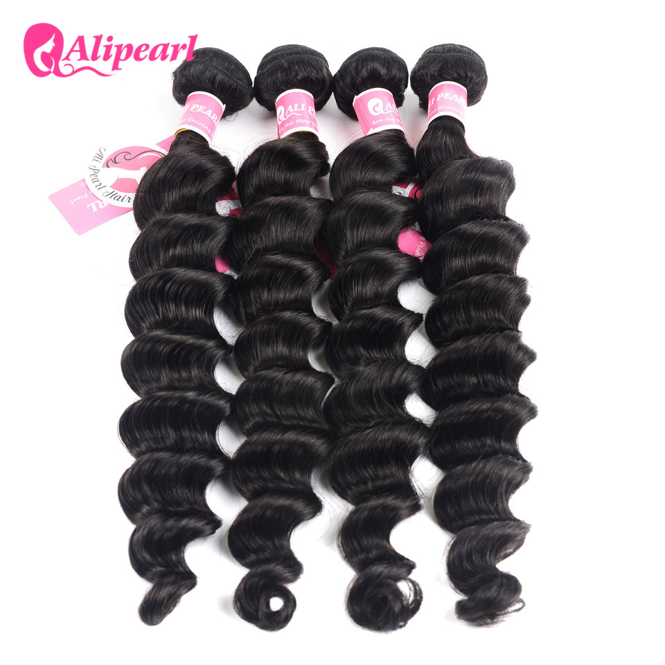 Hair-Extensions Weave Alipearl Hair Deep-Hair 4-Bundle 8-30inch Deals Natural 100%Human-Hair-Bundles title=