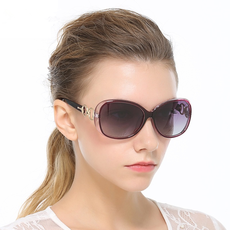 HDCRAFTER Women Sun Glasses Polarized Female Vintage Google Sunglasses for Women Black Purple Brown Sunglass gafas Oculos De Sol