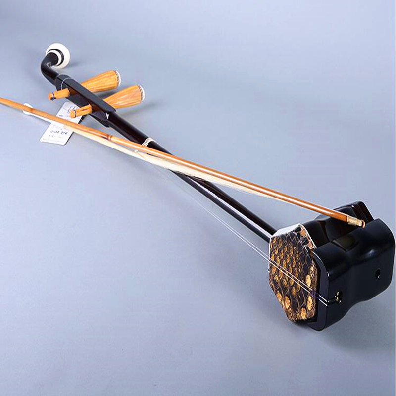 Chinese Huqin erhu 01A1 Stringed musical Instruments with erhu accessories Bow strings book video case Factory direct wholesale wuyue erhu chinese musical instrument 2 string erhu round pole hexagonal shape with bow
