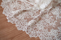 200yards ivory alencon lace fabric with retro floral, cord lace fabric, bridal lace fabric