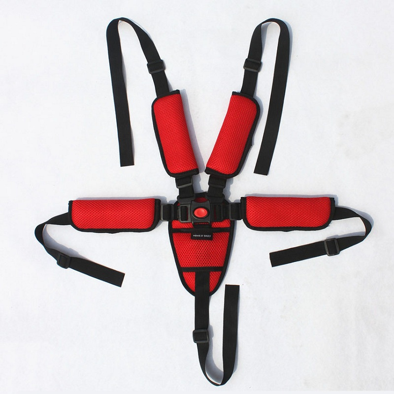 1pc Baby Protection Seat Stroller Belt 5 Point Harness Safe Belt Seat For Stroller High Chair Pram Buggy Children Kid Pushchair