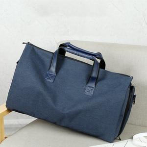 Image 5 - Men Large Travel Bags Foldable Duffle Bag Business Weekend Bags Oxford Suit Protect Cover Women Travel Bag Organizer Handbags