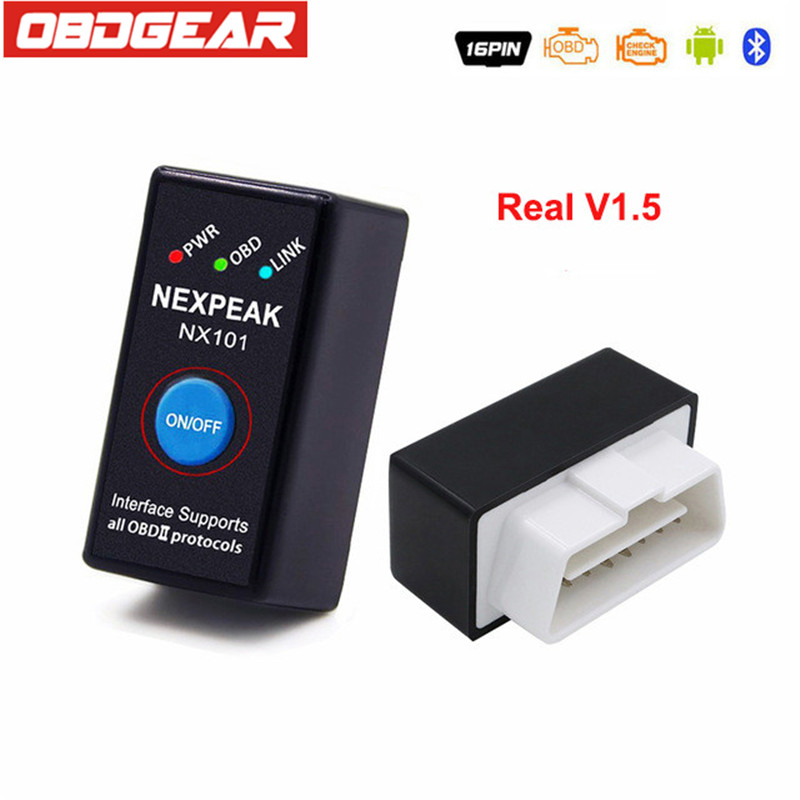 Beste ELM327 V1.5 ODB 2 Autoscanner EML327 V1.5 OBD2 Bluetooth Adapter Mini ELM-327 ODB 2 Auto-diagnosescanner Russische-sprechen