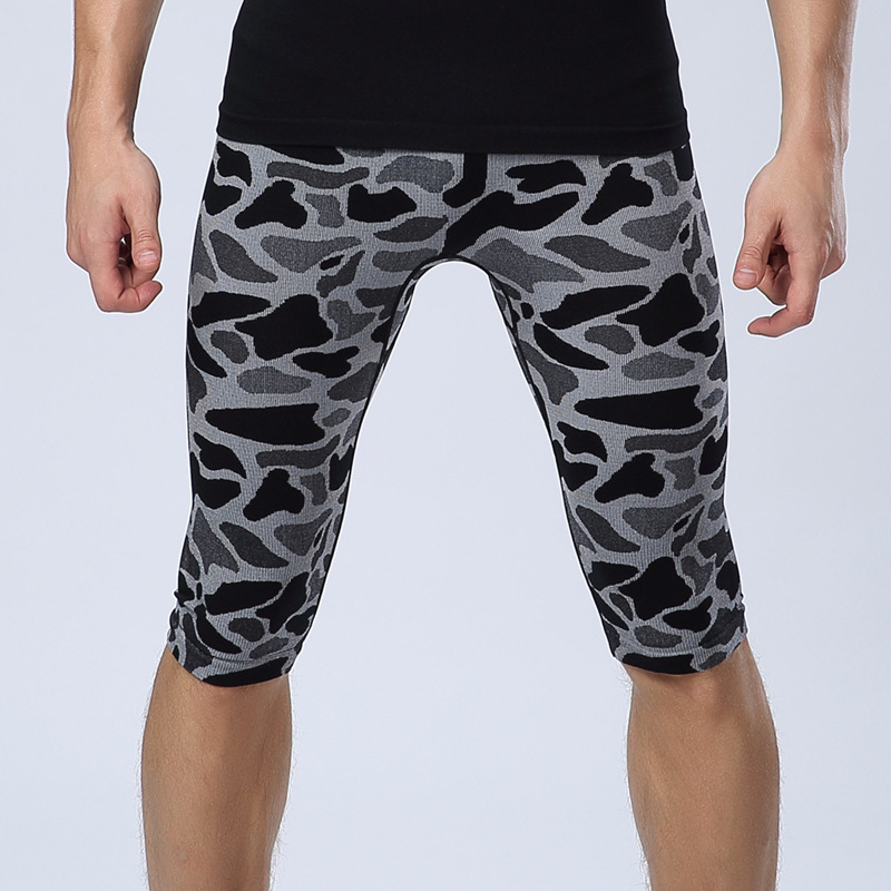 Shorts Men Quickly-Drying-Legging Compression Stretch Skinny Camouflage Summer Fashion
