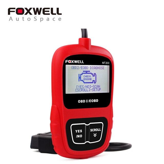 FOXWELL NT200 OBD OBDII Автомобиля Multi-system Scanner OBD Диагностическое Scan Tool Code Reader для Всех Автомобилей