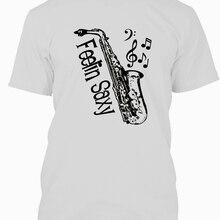 a333eef2 Shirts Men'S Crew Neck Novelty Short Feelin Saxy Saxophone Musician T-Shirt  Think Out