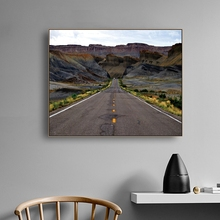 Laeacco Canvas Calligraphy Painting for the Wall Art Natural Road Posters and Prints Home Bedroom Decoration Pictures
