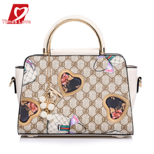 Beilian 2016 new PU leather flowers colorful handbag large capacity high quality elegant fashion Handbags Women Bags XB0160
