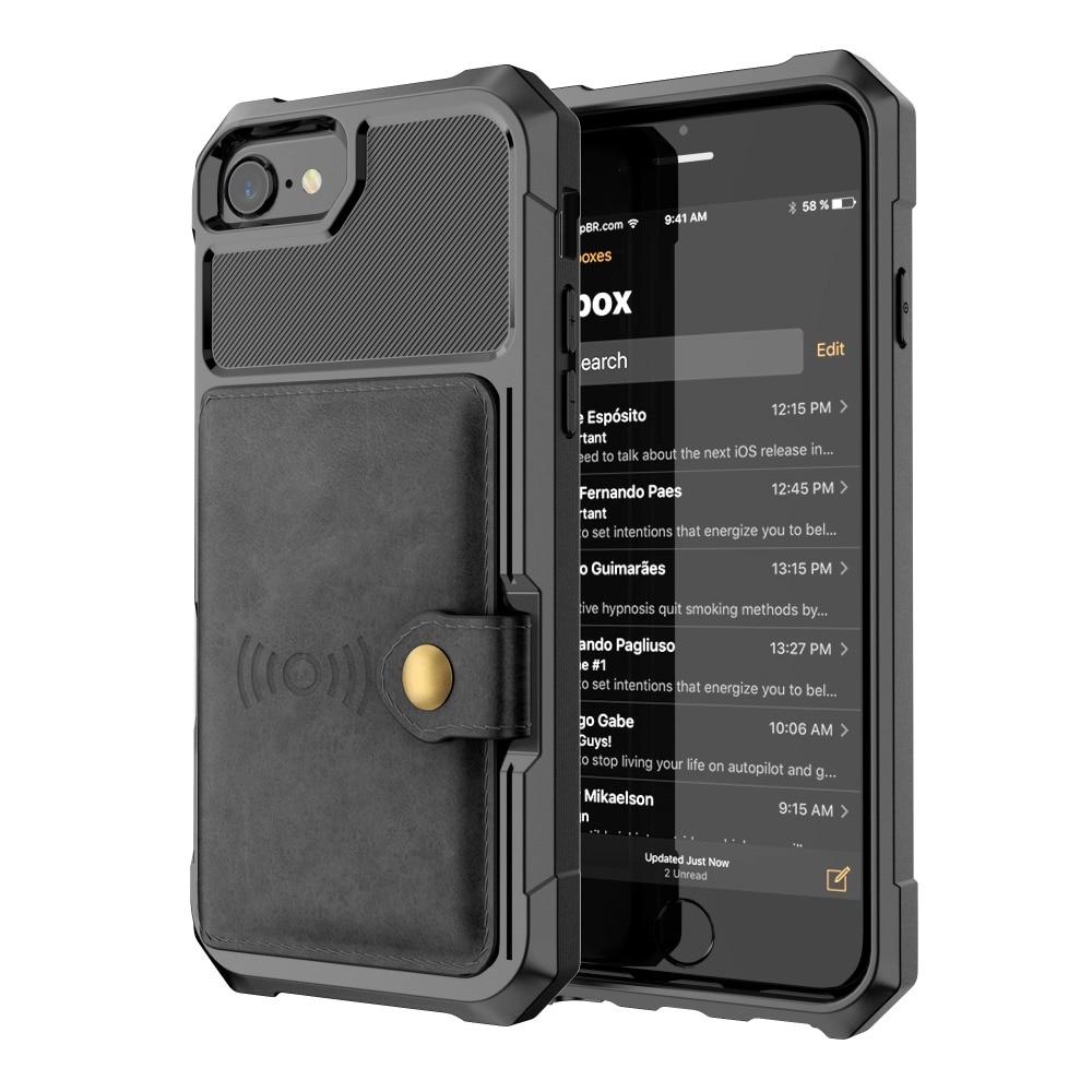 HTB1utalXorrK1RkSne1q6ArVVXaF Luxury PU Leather Wallet Case for iPhone 6 6s 7 8 Plus X XS XR XX MAX Cases Wallet Flip Cover Buckle for iPhone Phone XR Fundas