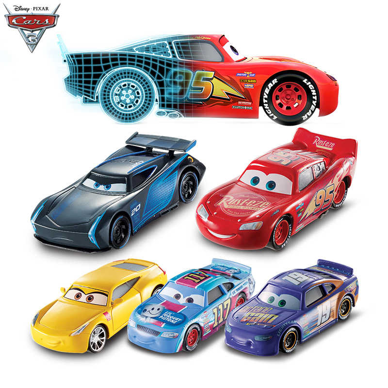 39 Style Disney Pixar Cars 2 3 Diecast Metal Car Toy Lightning McQueen Jackson Storm Model Toys For Children Birthday Gift
