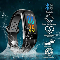 IP68 Waterproof Smart Band Blood Pressure Measurement Fitness Tracker Health Bracelet Colorful Smartband PK fitbits mi band 3 m4