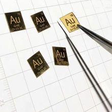 99.99% высокой чистоты золотой Металл Au резной элемент таблица лист 10*10*0,1 мм