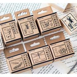 Mo. Karte Vintage wald tiere unterschrift holz stempel Dekorative DIY schreibwaren scrapbooking Einzelhandel