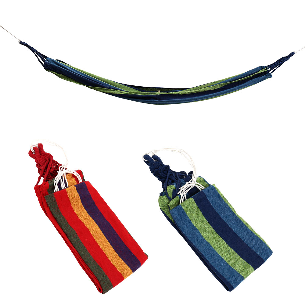 Portable Hammock Outdoor Hammock Garden Sports Home Travel Camping Swing Canvas Stripe Hang Bed Hammock Red, Blue 190 x 80cm promotion hot sale portable 190 x 80cm outdoor hammock outdoor sports travel camping swing canvas stripe hang bed e5m1