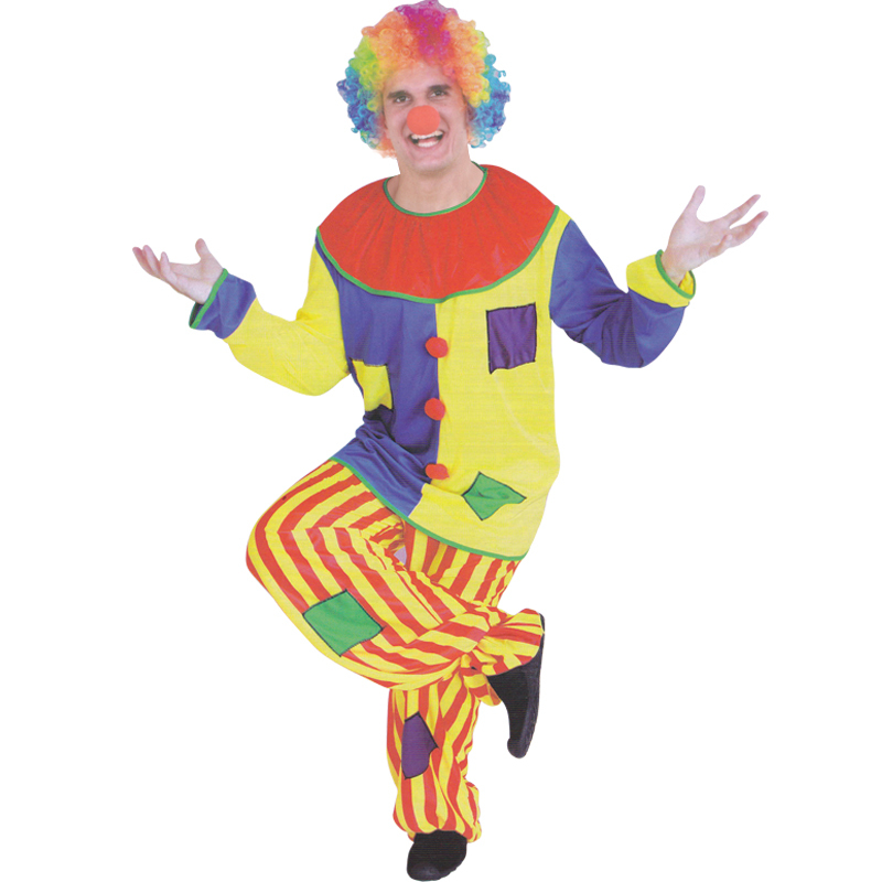 Free shipping Halloween costume masquerade magician clown costume adult clown clothes suit