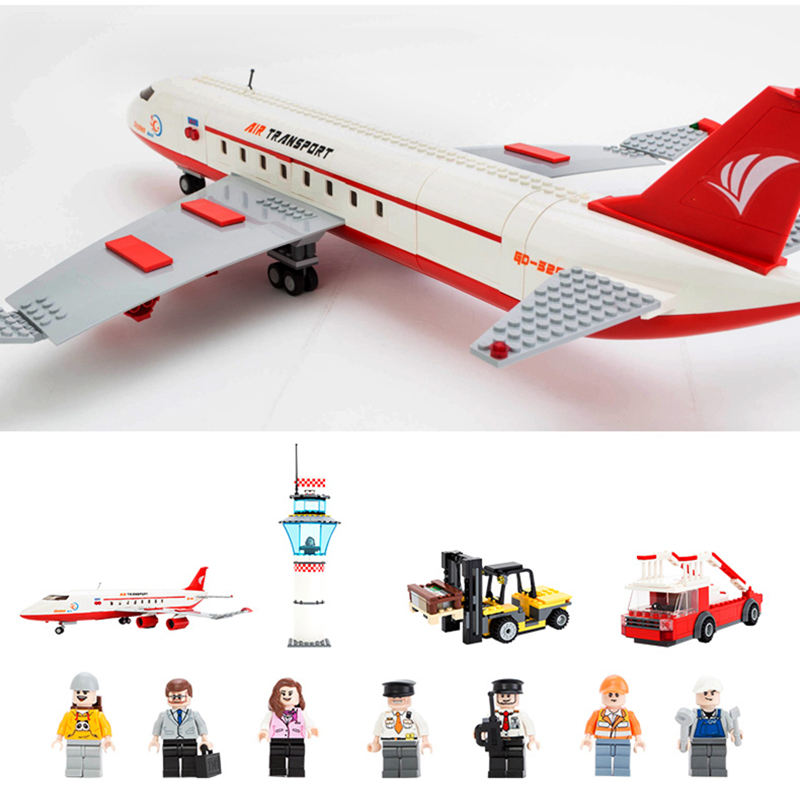 GUDI 856+pcs Large Passenger Plane Airplane Building Block Bricks Assemblage Education Toys Model Brinquedos Gift for childs8913 lego education 9689 простые механизмы