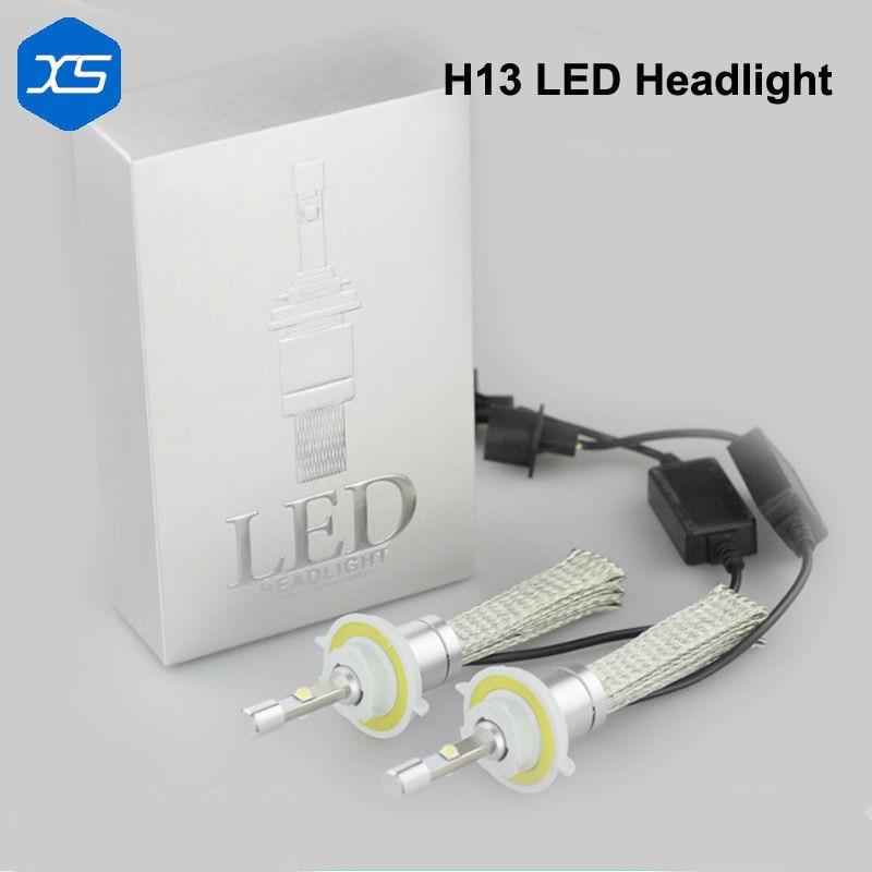 2017 Новый H4 9007 6000 к 40 Вт 9600lm Сид 2шт/пара автомобилей Источник света Автомобильная Лампа Н13 9004 двойной лампы фары, фары для автомобилей