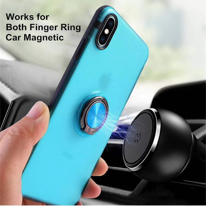 Image 4 - Magnetic Car Mount Anti Fingerprint Slim Cover for iPhone 11 Pro Max XS MAX XR X 8 7 6 6S Plus with Ring Holder Kickstand Cover-in Fitted Cases from Cellphones & Telecommunications