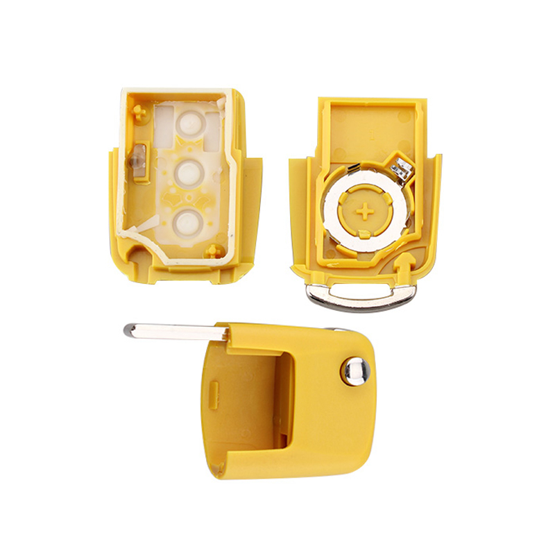IZTOSS 3 Button Flip Folding Uncut Blade Remote Car Key Case for Volkswagen VW Golf Passat Polo Jetta Touran Bora Sharan