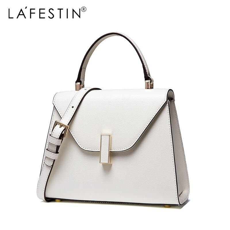 LAFESTIN sac à main des femmes Polyvalent Véritable sac à bandoulière En Cuir Designer De Luxe Multifonction Marques sac à bandoulière