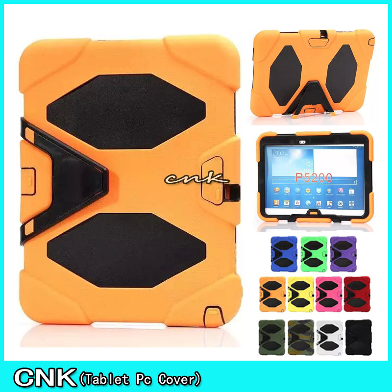 Durable Hybrid Rugged Stand Shockproof Silicone Case For Samsung Galaxy Tab 3 10.1 P5200 P5210 Tablet PC Cover Case lovemei shockproof gorilla glass metal case for galaxy note4 n9100