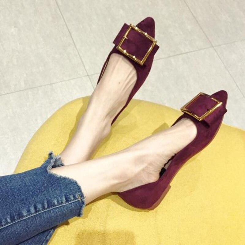 Moda Primavera Elegante 2019 Mujeres púrpura Punta Barco Yx632 De Negro Plus Planos Mujer Zapatos Tamaño Pisos Las 5wEcqUqCxf