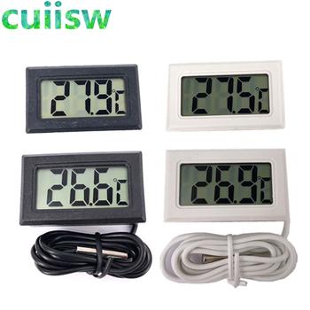 1szt LCD cyfrowy termometr do zamrażarki temperatura-50 ~ 110 stopni lodówka lodówka termometr tanie i dobre opinie Termometr cyfrowy 100 °C-119 °C Przycisk bateria 1 9 cale w obszarze Termometr oporowe Kryty Osadzone w cuiisw