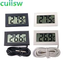 1szt LCD cyfrowy termometr do zamrażarki temperatura-50 ~ 110 stopni lodówka lodówka termometr tanie tanio Termometr cyfrowy 100 °C-119 °C Przycisk bateria 1 9 cale w obszarze Termometr oporowe Kryty Osadzone w cuiisw
