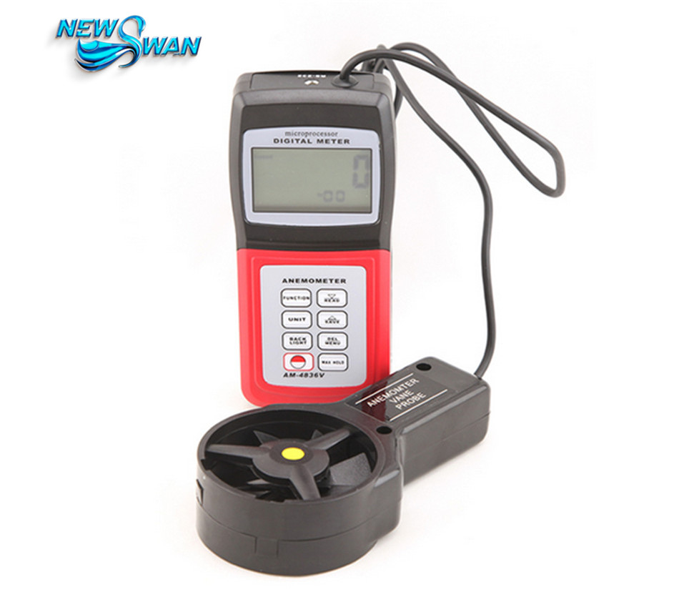 все цены на AM4836V Handheld Digital Anemometer Air Volume Wind Speed Meter Temperature Measuring with Vane Sensor Backlight онлайн