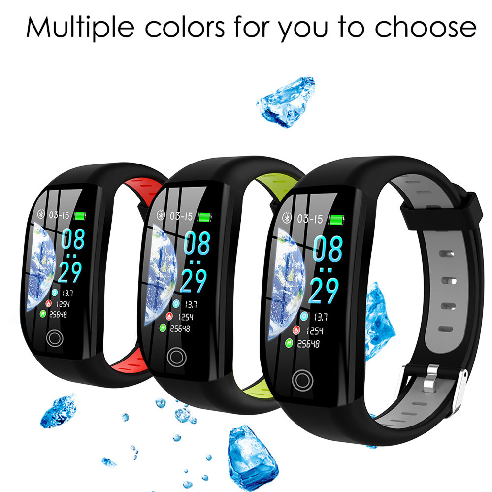 F21 Smart Wristbands 1.14 Inch Screen Sports Smart Band IP68 Waterproof Fitness Tracker Smart Bracelet for Android and IOS
