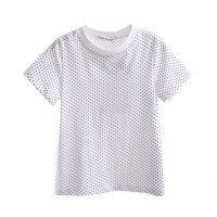 New Fashion White Boys T-shirt Little Dot Printing Summer Little Child Short Tops Baby Kids Casual Clothes BT90325-21L