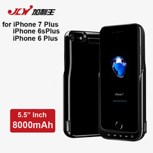 JLW 8000mAh Battery Charger Cases for iPhone 7/6S/6 Plus Half Pack External Back Clip Rechargeable Case for iPhone 6 Plus(5.5″)
