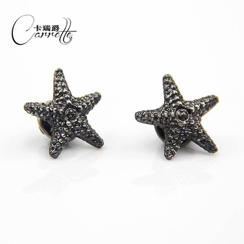 Black coral starfish shape men's brooch suit shirt ladies accessories  simple temperament elegant retro brooches collar buckle-in Brooches from  Jewelry