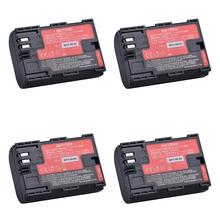 4Pcs LP-E6 LPE6 LP E6N Camera Battery Japan Sanyo Cell Bateria for Canon DSLR EOS 5D Mark II Mark III 60D 60Da 7D 70D 6D Camera