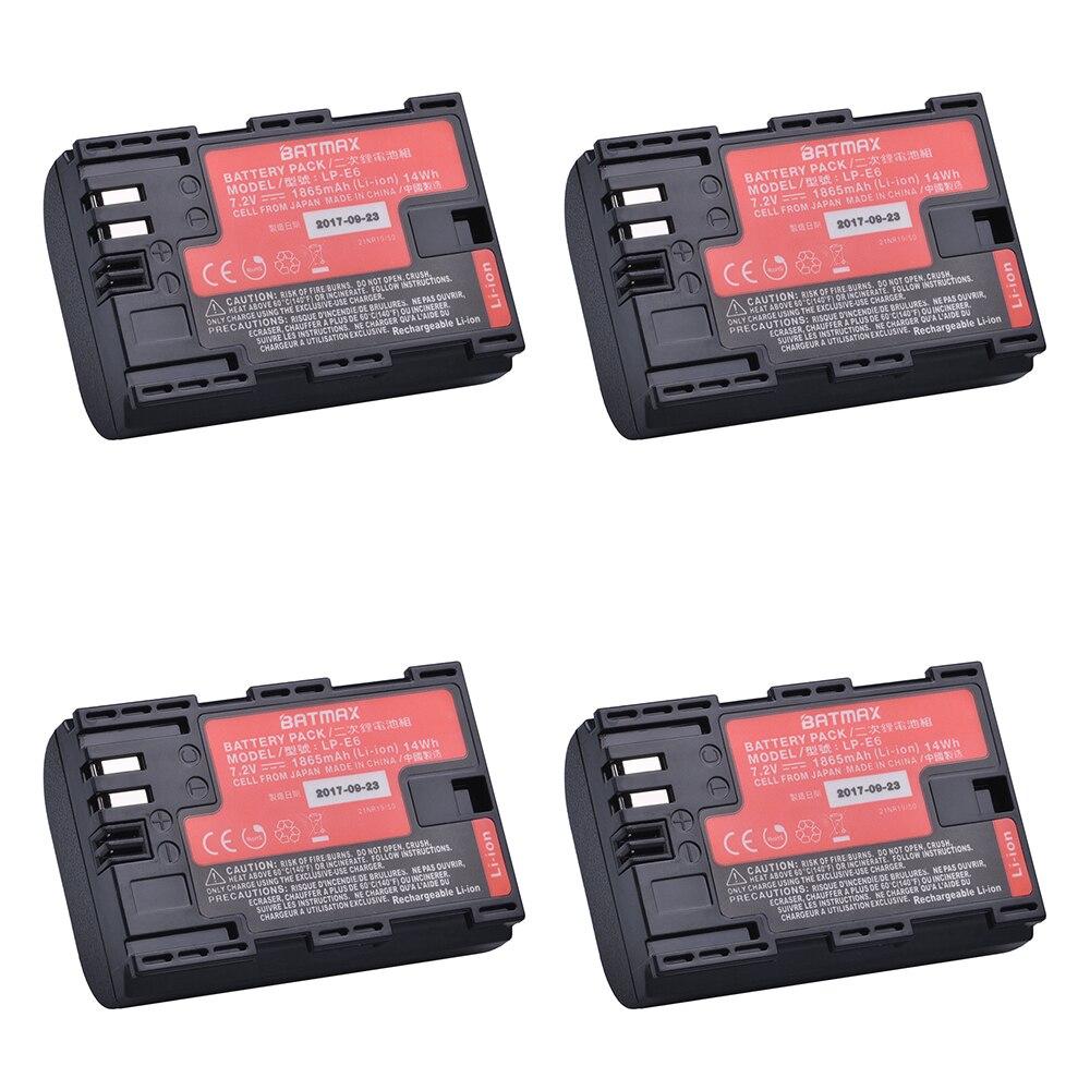 4 Pz LP-E6 LPE6 LP E6N Fotocamera Batteria Giappone Cellulare Sanyo Bateria per Canon DSLR EOS 5D Mark II, Mark III 60D 60Da 7D 70D 6D Camera