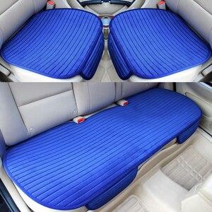Image 1 - Universa protetor de assento de carro almofada da esteira tampas de assento de automóveis frente para trás do assento de automóvel capa quente veludo almofada do assento de carro